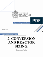 2 Conversion Y Dimensionamiento de reactor