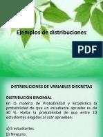 Ejemplos de distribuciones