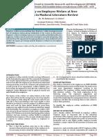 A Study on Employee Wefare at Sree Chakra in Madurai Literature Review