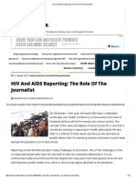 HIV And AIDS Reporting_ The Role Of The Journalist