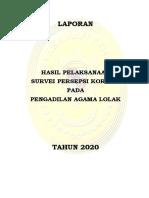 9. Pelaporan IPK PA Lolak Tahun 2020