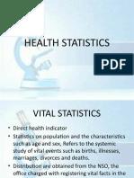 HEALTH STATISTICS
