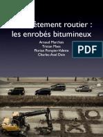 Le revêtement routier - Les enrobés bitumineux
