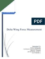 Delta Wing Force Measurement