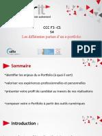 1.Les différentes parties d'un e-portfolio