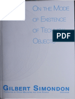 Gilbert Simondon - On The Mode of Existence of Technical Objects