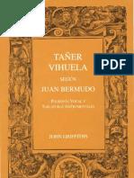 GRIFFITHS, John • Tañer vihuela según Juan Bermudo (2003)