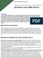 iMac Core i3_ Apple Lancia i Nuovi iMac Core i3 - 2010-10-25