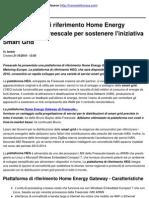 La ma Di to Home Energy Gateway Della Freescale Per Sostenere l'Iniziativa Smart Grid - 2010-10-21