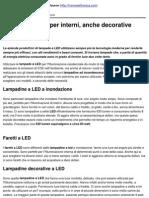 Lampade a LED Per Interni, Anche Decorative - 2010-10-19