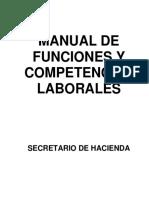 MANUAL DE FUNCIONES (secretario de hacienda)