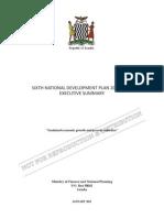 Sixth National Development Plan 2011-2015 - Executive Summary