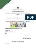 TRABALHO DE GESTÃO FARMAÊUTICA