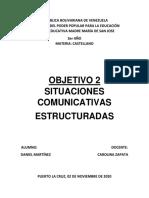 Castellano.  Situaciones Comunicativas Estructuradas