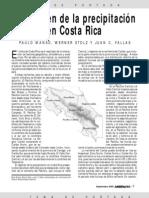 El regimen de la precipitacion en Costa Rica