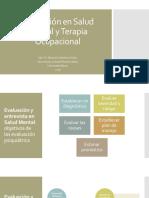 Evaluación en Salud Mental y Terapia Ocupacional2018