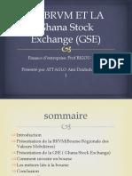 LA BRVM ET LA Ghana Stock Exchange