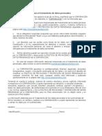 AUTORIZACION DE TRATAMIENTO DE DATOS