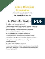 EL INGRESO NACIONAL (PRIMERA PARTE)