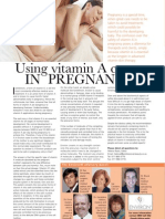 Using vitamin A creams in pregnancy - Mar-Apr 06