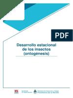 Desarrollo estacional de los insectos