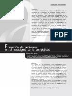 Formación de profesores en el paradigma de la complejidad.pdf