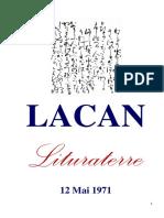 Jacques Lacan - 1971.05.12. Lituraterre - fr.pdf