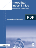 Cosmopolitan Business Ethics. Towards a Global Ethos of Management, Routledge, 2017 by Jacob Dahl Rendtorff.