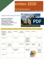 UCC November 2020 Cornerstone