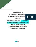 2.4 PROTOCOLO DE BIOSEGURIDAD PARA RESTAURANTE - MODELO