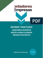 Ąnálisis sobre la aplicación del IR a los servicios prestados a título gratuito-C&E