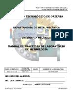 MANUAL DE PRÁCTICAS DE LABORATORIO DE METROLOGÍA