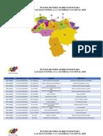 Puntos de Feria Electoral que están distribuidos en todo el Territorio Nacional