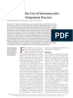 Evidence for the Use of intramuscular Injections in Outpatient Practice