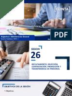 Sesión 26 - Reclutamiento, selección, contratación, promoción y transferencia de personal