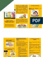 TRIPTICO FAMILIA Y ESCUELA HERRAMIENTAS DE CRIANZA POSITIVA Y BUEN TRATO