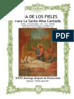 XXIII Domingo Después de Pentecostes. Guía de los fieles para la santa misa cantada. Kyrial Orbis Factor