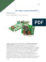 Proyecto de radio control sencillo a 433 Mhz