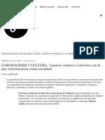 CORONACRISIS Y CULTURA _ Catarsis creativa y colectiva con la que reinventarnos como sociedad – DXI magazine