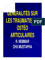 GÉNÉRALITÉS SUR LES TRAUMATISMES OSTÉO ARTICULAIRES-1 [Mode de compatibilité]