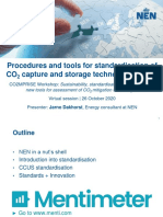 20201026 CCUS Standardisation Developments - CO2MPRISE Workshop