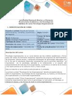 Syllabus del curso Psicología Organizacional
