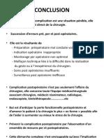 9 conclusion complications post opératoires