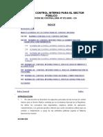 NORMAS DE CONTROL INTERNO PARA EL SECTOR PÚBLICO