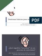EL ARTE DE ESCUCHAR DESTREZAS BÁSICAS une [Compatibility Mode]