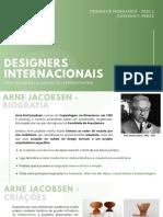 DESIGNERS INTERNACIONAIS