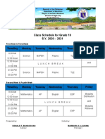 Grade-10-Class-Schedule
