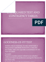 CHI SQUARED TEST AND CONTIGENCY TABLES