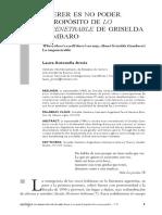 Antonella Arnés, L.- Querer es no poder. A propósito de lo impenetrable de Griselda Gambaro