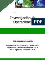 Cap 1. Introducción a la Investigación de Operaciones